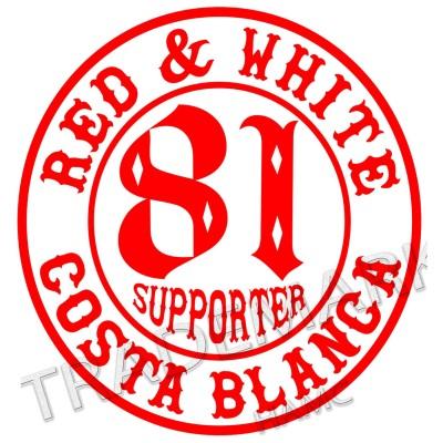 adhesivo Hells Angels sticker Supporter 81 Costa Blanca 10 cm. round