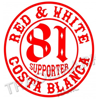 Hells Angels sticker Supporter 81 Costa Blanca 10 cm. round