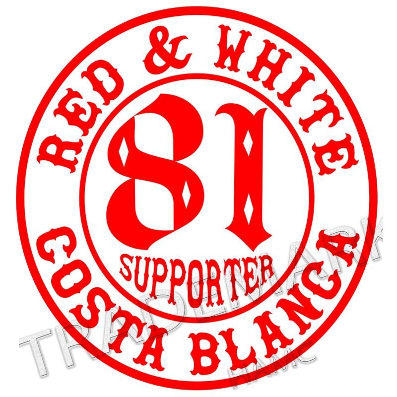 aufkleber Hells Angels sticker Supporter 81 Costa Blanca 10 cm. round