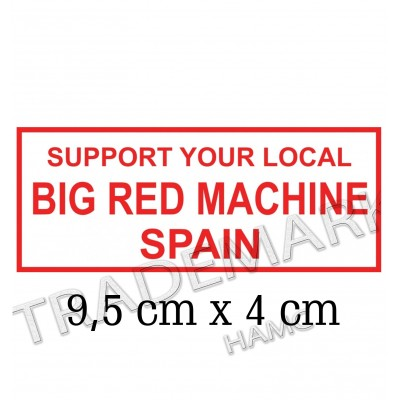 adesivo Hells Angels sticker Support 81 Big Red Machine Spain