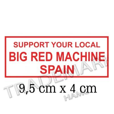 adesivo Hells Angels sticker Support 81 Big Red Machine Spain