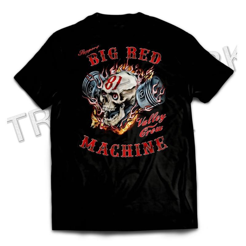 Andorra Piston Skull Black T-Shirt Support 81 Big Red Machine Hells Angels