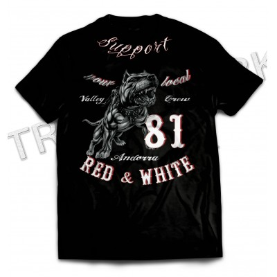 Hells Angels Support81 Andorra Pitbull Black T-Shirt Big Red Machine