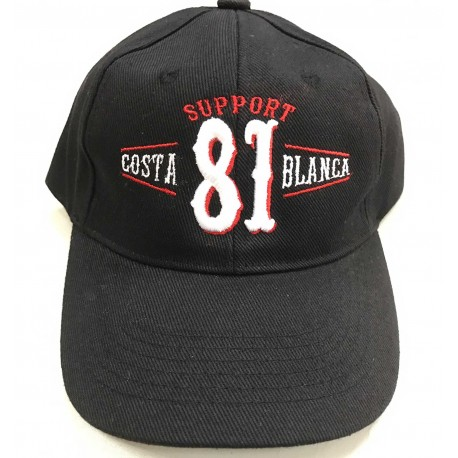 Hells Angels Support 81 Costa Blanca Spain embroidery baseball cap black