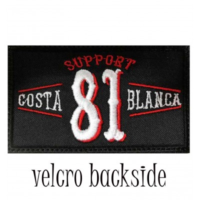 Hells Angels Support 81 vintage Costa Blanca parche