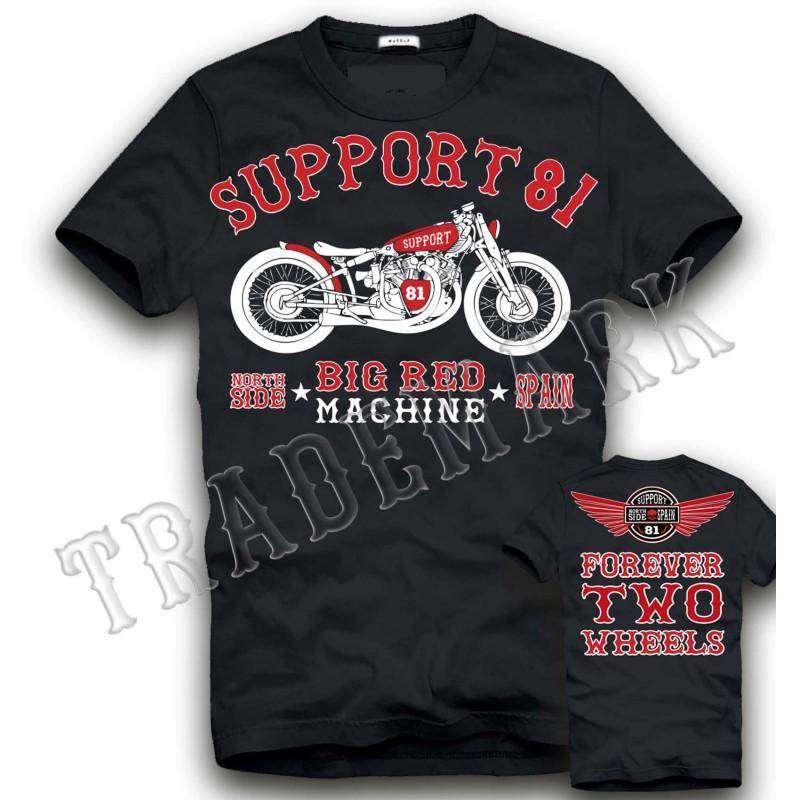 Hells Angels NorthSide Spain black T-Shirt model 2 Front + Back side printed