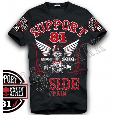 Hells Angels NorthSide Spain schwarz T-Shirt model 7 Front + sleeves printed