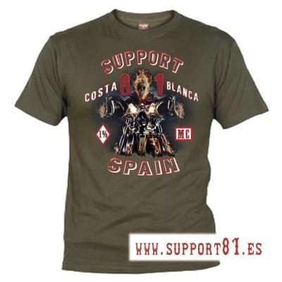 Hells Angels Ghost Rider Verde T-Shirt Support81 Big Red Machine 1%