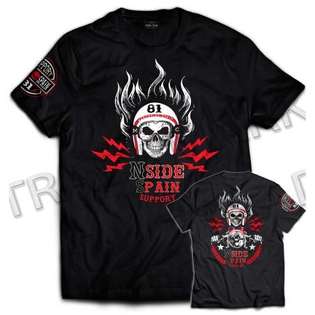 Hells Angels NorthSide Spain T-Shirt model 8 Front + Backside + sleeve