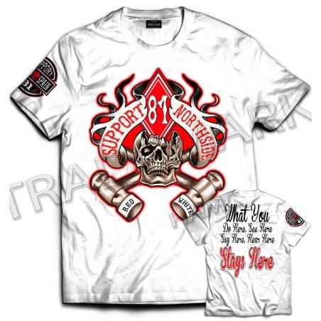 Hells Angels NorthSide Spain T-Shirt model 13 Front + Backside + sleeve