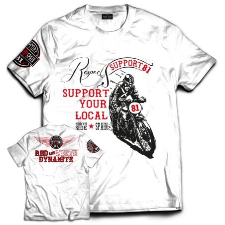 Hells Angels NorthSide Spain T-Shirt model 14 Front + Backside + sleeve