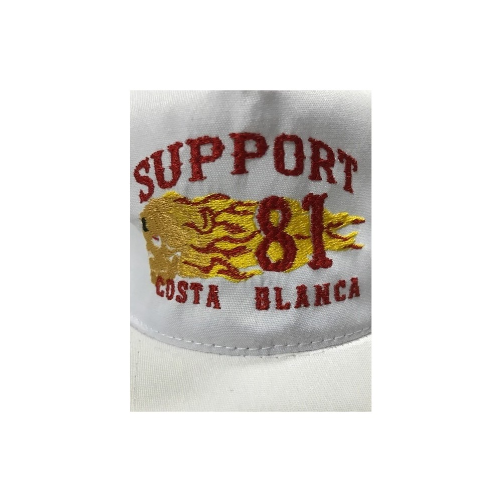 b4314dfb713 ... Hells Angels Support 81 flaming scull embroidery baseball cap white