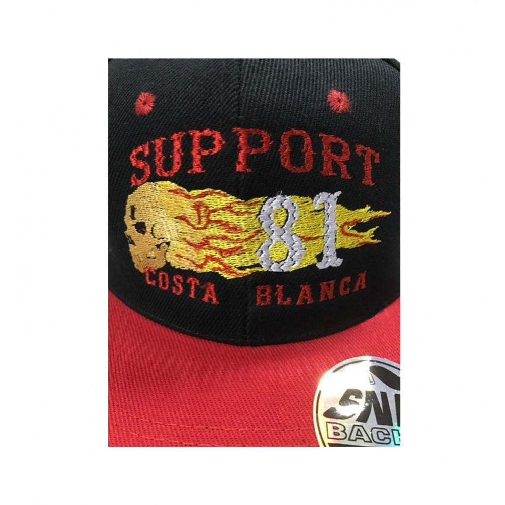 6647a7e0092 ... Hells Angels Support 81 flaming scull embroidery baseball cap black ...