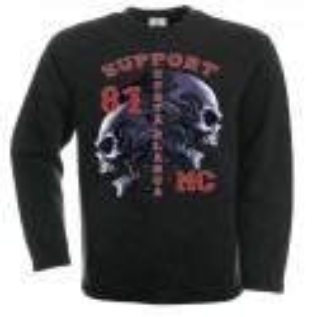 Hells Angels Tribal Sculls Sweatshirt black