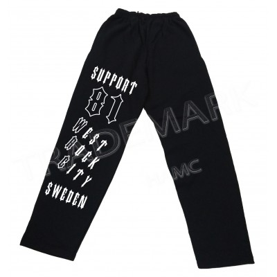 Hells Angels Support 81 WRC Sweden Jogging Pants Black