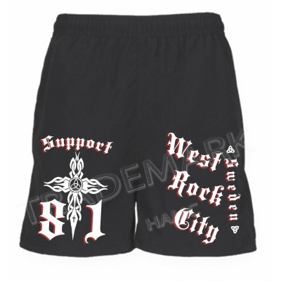 Support 81 Hells Angels Sport Shorts WRC Sweden black
