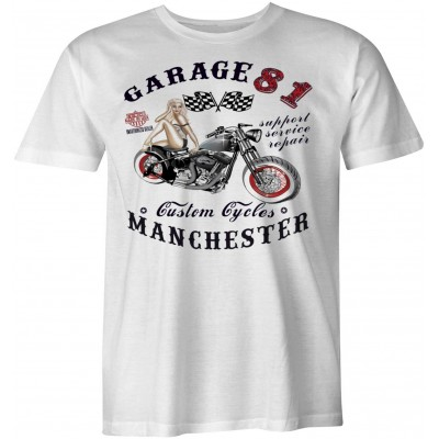 Hells Angels Manchester England T-Shirt model 4