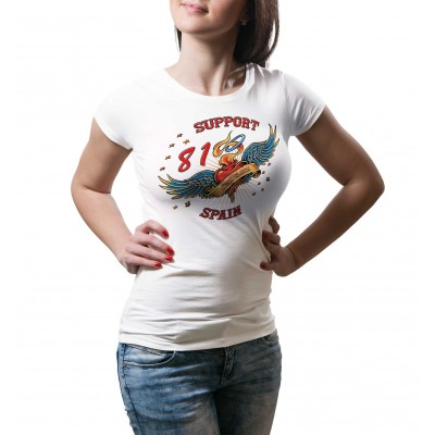 Hells Angels Heart Tattoo Ladies T-Shirt