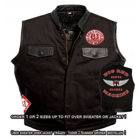 Hells Angels Support81 Denim - Leather Vest