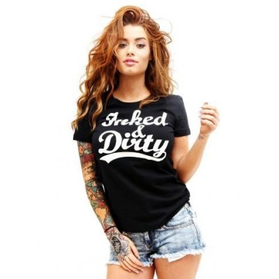 Hells Angels Inked and Dirty Ladies T-Shirt Tattoo style