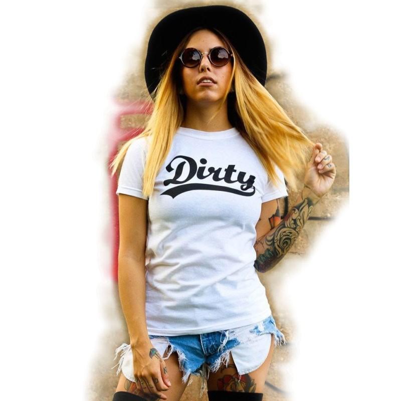 Dirty Ladies T-Shirt Tattoo style