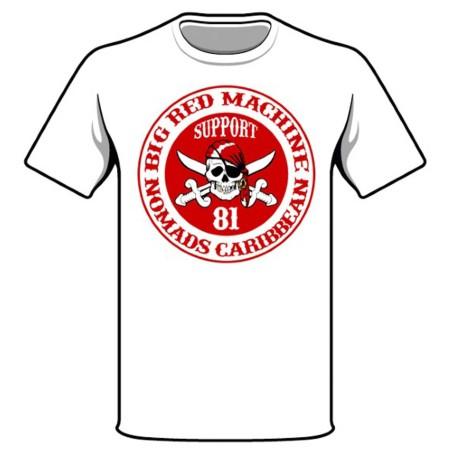 Hells Angels Nomads Caribbean  T-Shirt model 2 white