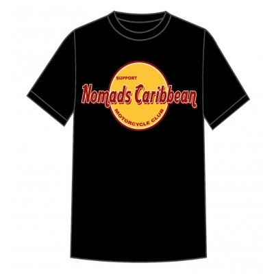 Hells Angels Nomads Caribbean T-Shirt model 3 black