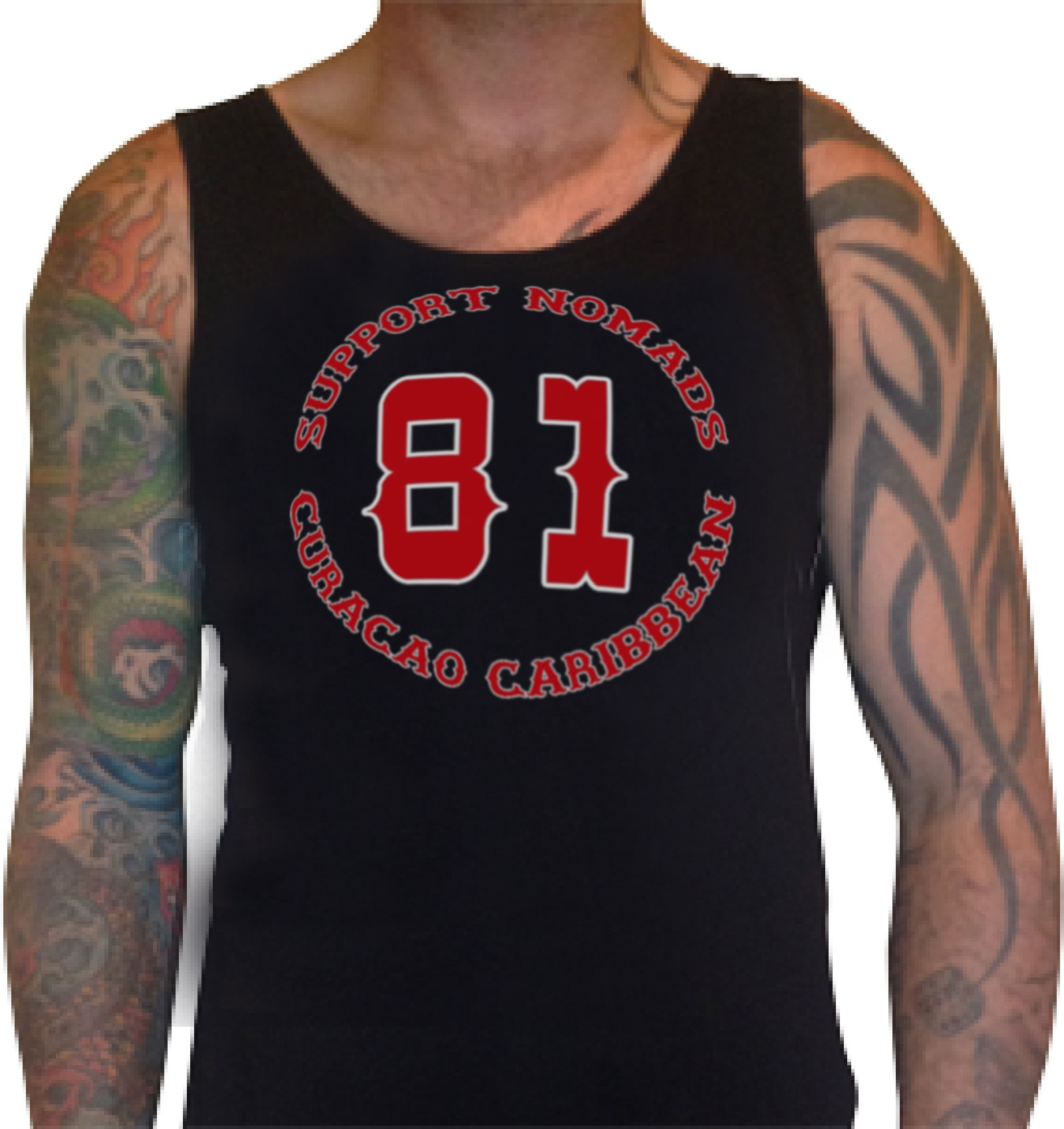 Details zu 01 Hells Angels Nomads Caribbean Tank Top model 5 black