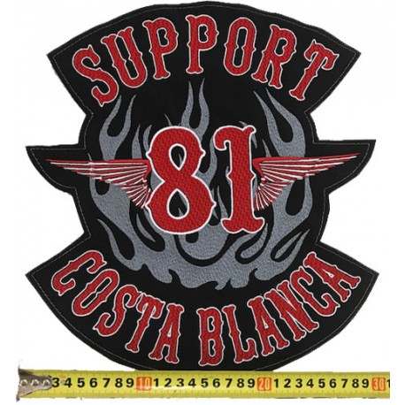 Patch Support 81 Costa Blanca Hells Angels large 30cm.