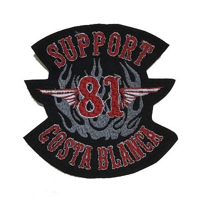 Aufnäher Patch Support 81 Costa Blanca Hells Angels small 12cm.