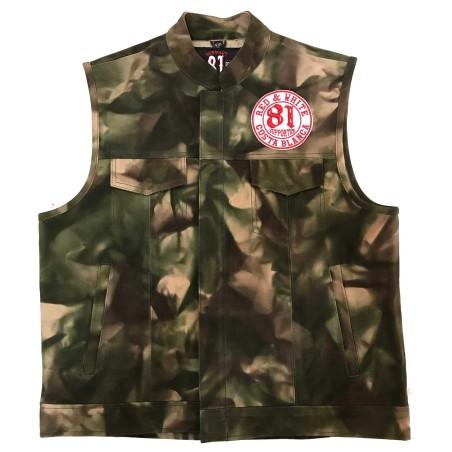 Leather Vest / Waistcoat / Jacket Camouflage