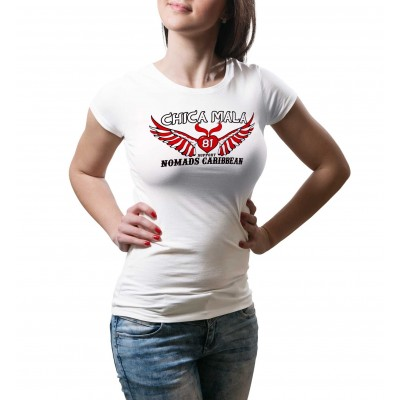 Hells Angels Nomads Caribbean Female T-Shirt model 1 white