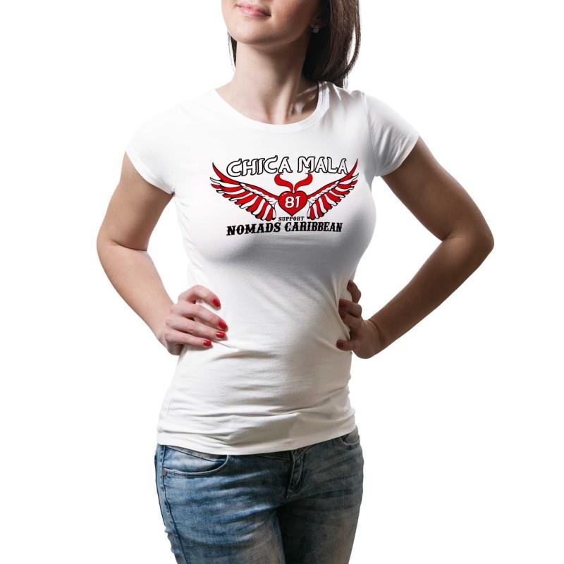 Hells Angels Nomads Caribbean Female T-Shirt model 1 white