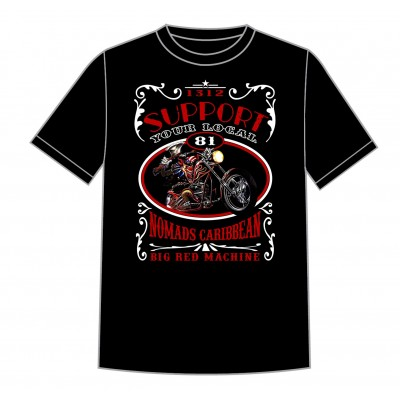 Hells Angels Nomads Caribbean T-Shirt model 6 black