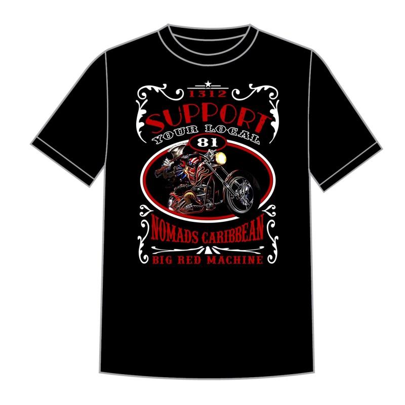 Hells Angels Nomads Caribbean T-Shirt model 6 black