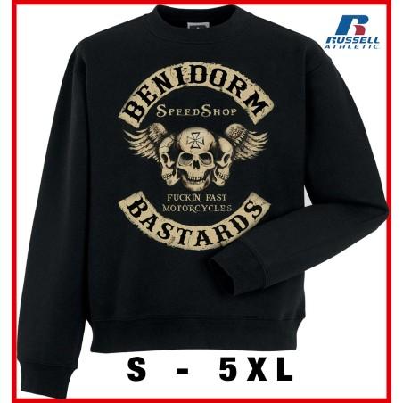 Hells Angels Benidorm  Bastards  Support81 sweater  Big Red Machine Black