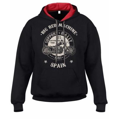 Hells Angels Anniversary Support81 Big Red Machine sudadera negra