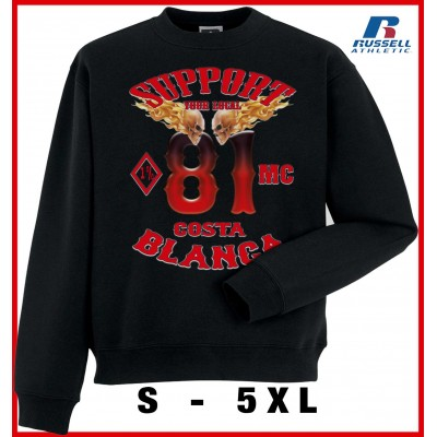 Hells Angels MC1% Support81 sweater Big Red Machine Black