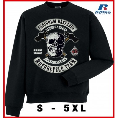Hells Angels Benidorm Bastards Support81 Big Red Machine sudadera negra