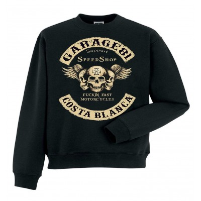 Hells Angels Garage81 Support81 sweater Big Red Machine Black