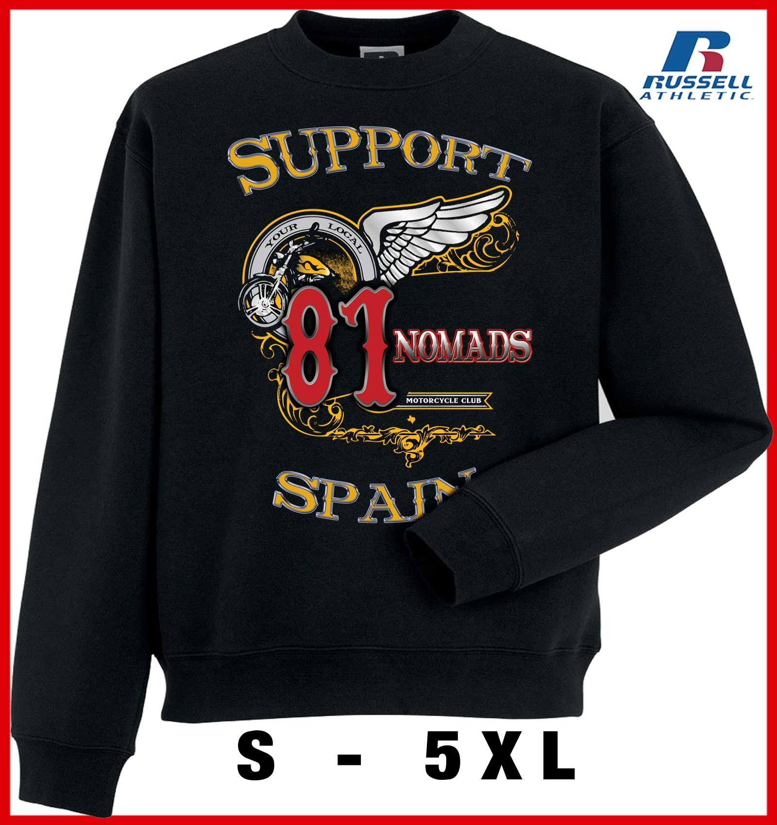 Hells Angels Nomads Softail Support81 sweater Big Red