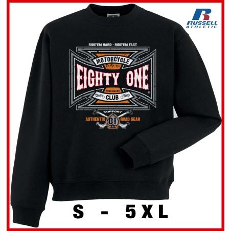 Hells Angels Ridem Hard Support81 sweater  Big Red Machine Black