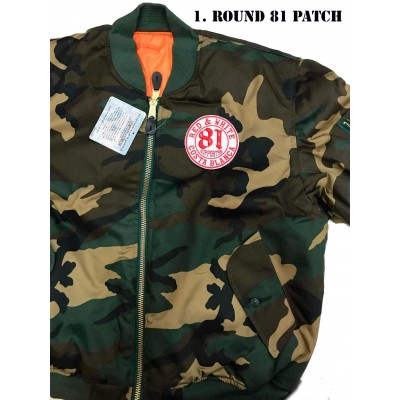 Hells Angels Support81 MA-1 Camo Bomber Flieger Jacke