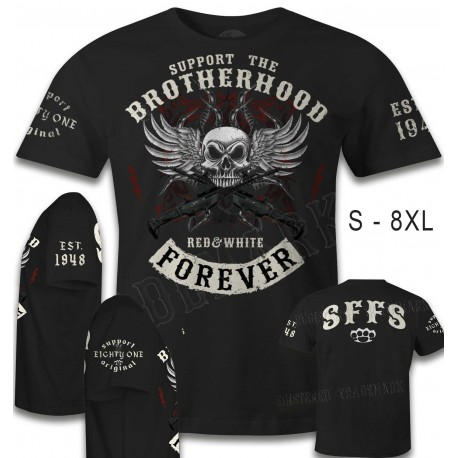 Hells Angels Support 81 T-shirt Brotherhood Special Support your local Hells Angels Red and White Special