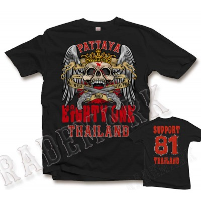 Hells Angels Thailand Support81 Crown Scull T-Shirt 6 Rocker 1%