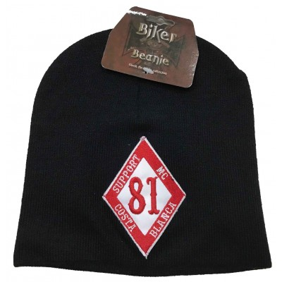 Hells Angels Support 81 Biker Beanie Big Red Machine black 1 percent