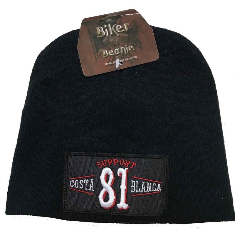Hells Angels Support 81 Biker Beanie Big Red Machine black Vintage Patch Mütze