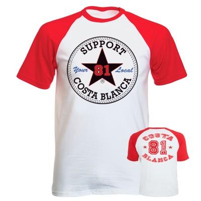 Hells Angels T-Shirt Support81 Big Red Machine Baseball Star