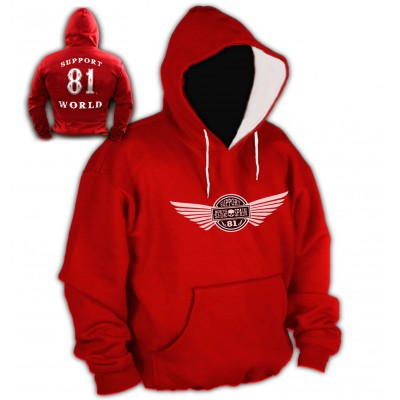 Hells Angels 81 NorthSide 4 Support81 Hoodie Big Red Machine