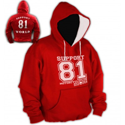 Hells Angels Anniversary Support81 Hoodie Big Red Machine